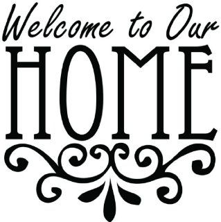 A Welcome To Our Home   Living Room   Picture Art   Peel & Stick Vinyl Wall Decal Sticker Size  20 Inches X 20 Inches   22 Colors Available