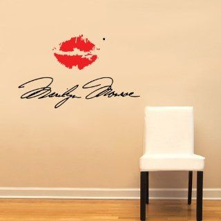 Marilyn Monroe Signature with Red Lips Large Wall Decal Sticker Home Decoration Decor   Other Products