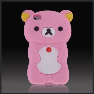 "3D Pink Big Teddy Bear ""Zany"" Hybrid case cover for Apple iPhone 4 4G 4S Cell Phones & Accessories"