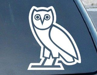 "OVOXO Owl Car Window Vinyl Decal Sticker 4"" Tall (Color White)"