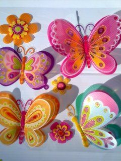 3D Removable Butterfly Art Decor Wall Stickers Kids Room Decals PK5D