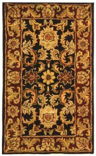 Safavieh CL244D 2 Classics Collection Handmade Ivory and Red Wool Area Rug, 2 Feet by 3 Feet