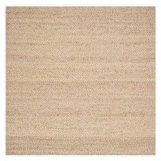 Safavieh NF731A Natural Fibers Collection Jute Square Area Rug, 7 Feet, Natural