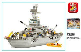 Sluban Navy Cruiser 577 Piece Building Block Set Lego Compatible Toys & Games