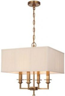 Hudson Valley Lighting 244 AN Four Light Pendant from the Berwick Collection, Antique Nickel   Chandeliers