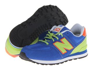 New Balance Kids KL574 (Big Kid) Blue/Green