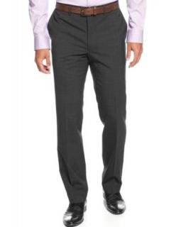 Kenneth Cole Reaction Modern Fit Mini Herringbone Striped Dress Pants   Pants   Men