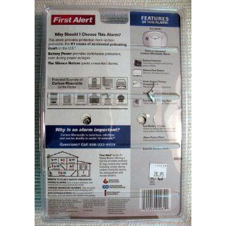 First Alert CO400 Battery Powered Carbon Monoxide Alarm   Carbon Monoxide Detectors