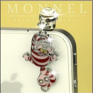 ip235 Luxury Fat Cat Anti Dust Plug Cover Charm For iPhone 4 4S Cell Phones & Accessories