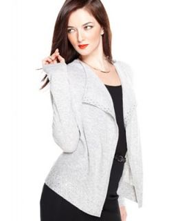 Charter Club Sweater, Long Sleeve Embellished Cashmere Cardigan   Sweaters   Women