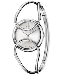 Calvin Klein Watch, Womens Swiss Inclined Stainless Steel Bangle Bracelet 30mm K4C2M116   Watches   Jewelry & Watches