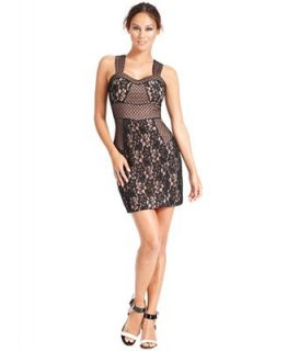 GUESS Sleeveless Contrast Lace Sheath   Dresses   Women