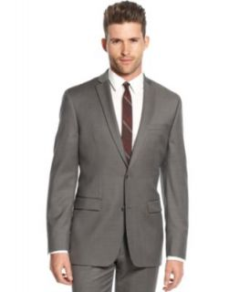 Bar III Mid Grey Pindot Suit Separates Slim Fit   Suits & Suit Separates   Men