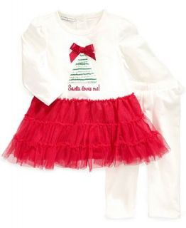 First Impressions Baby Set, Baby Girls 2 Piece Tulle Skirt Tunic and Leggings   Kids