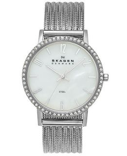 Skagen Denmark Watch, Womens Stainless Steel Mesh Bracelet 32mm 922SSSS   Watches   Jewelry & Watches