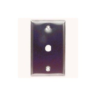 Grey Decora 1 Port F Type Stainless Steel Wall Plate Unloaded
