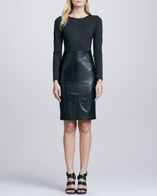 Trina Turk Sutherland Leather Skirt Dress