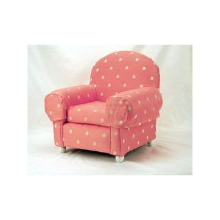 Wooden Framed Pet Dog Chair with Pink and White Polka Dots (Small)  Pet Beds