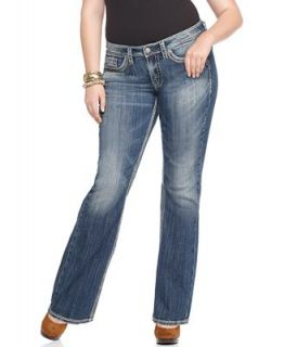 Silver Jeans Plus Size Jeans, Lola Flare Leg Medium Wash   Jeans   Plus Sizes