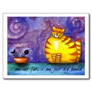 Big Fat Yellow Cat   PostCard