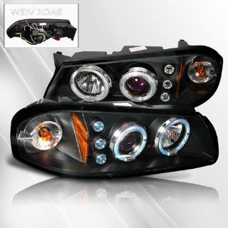 Chevy Impala 00 01 02 03 04 05 Projector Headlights /w Halo/Angel Eyes ~ pair set (Black) Automotive