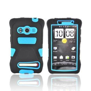 BLACK BLUE Trident Kraken Hard/Silicone Case For HTC EVO 4G Cell Phones & Accessories