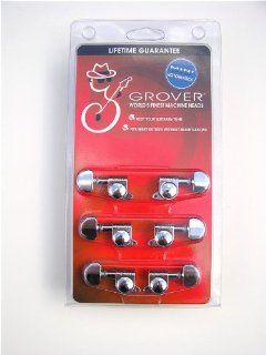 Grover 205C Mini 3 per Side Machine Heads, Chrome Musical Instruments