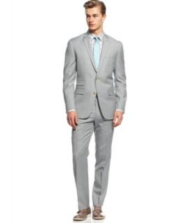 Bar III Light Grey Stepweave Suit Separates Slim Fit   Suits & Suit Separates   Men