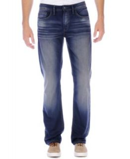 Buffalo David Bitton Driven Fit Straight Leg Jeans, Slight Sandblasted Wash   Jeans   Men