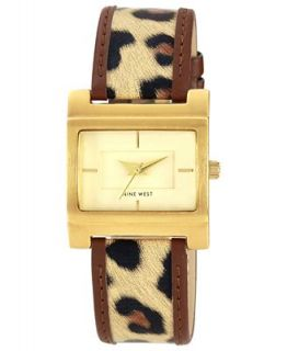 Nine West Watch, Womens Leopard Print Polyurethane Strap 29mm NW 1354CHBN   Watches   Jewelry & Watches
