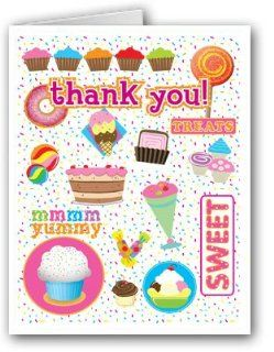 Kid Ice Cream Themed Thank You Note Card   10 Boxed Cards & Envelopes Health & Personal Care