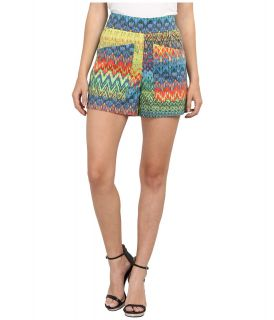 M Missoni Zig Zag Print Cotton Stretch Shorts Womens Shorts (Multi)