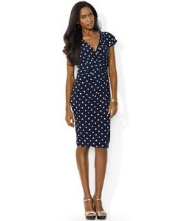Lauren Ralph Lauren Petite Flutter Sleeve Polka Dot Dress   Dresses   Women