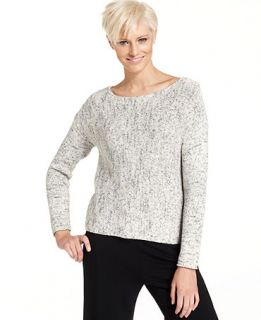 Eileen Fisher Long Sleeve Marled Knit Sweater   Tops   Women