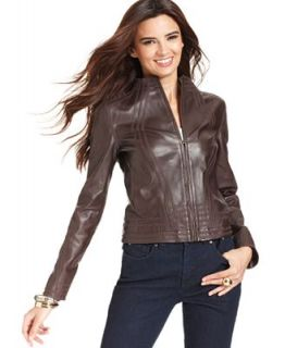 Anne Klein Jacket, Leather   Jackets & Blazers   Women