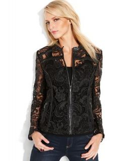 INC International Concepts Long Sleeve Lace Jacket   Jackets & Blazers   Women