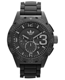 adidas Watch, Unisex Chronograph Black Silicone Strap 48mm ADH2792   Watches   Jewelry & Watches