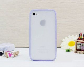 Colorful Bumper TPU GEL Frame Candy Skin Cover Case for Apple Iphone 4 4s 4g (Light Purple) Cell Phones & Accessories