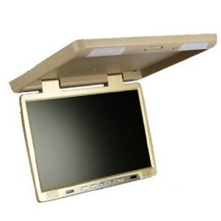 Absolute PFL181IRC 18 Inch TFT LCD Flip Down Monitor with Built In IR Transmitter (Cream/Tan)  Vehicle Overhead Video