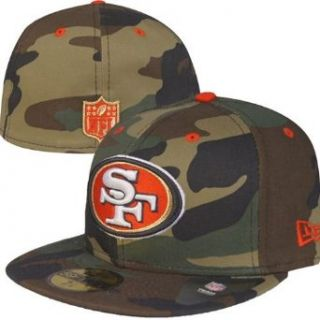 NFL San Francisco 49ers New Era Woodland Camo Pop Fitted Hat (7 1/8) Clothing