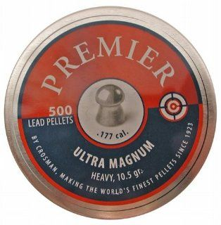 Crosman Premier Ultra Magnum .177 Cal, 10.5 Grains, Round Nose, 500ct Sport, Fitness, Training, Health, Exercise Gear, Shape UP  Airsoft Pellets  Sports & Outdoors