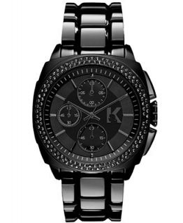 Karl Lagerfeld Unisex Chronograph Black Ion Plated Stainless Steel Bracelet Watch 40mm KL1602   Watches   Jewelry & Watches