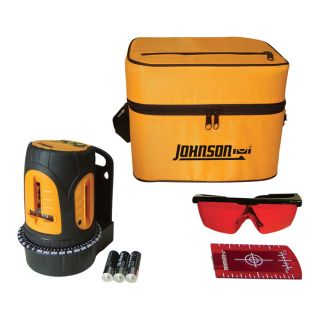 Johnson Level & Tool Self-Leveling Cross-Line Laser Level  with Three Vertical Lines and Pulse, Model# 40-6602  Laser Levels