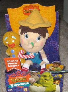 "Shrek the Third 10"" Plush Pinocchio and Gingy Toys R Us Exclusive Toys & Games"