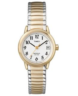 Timex Watch, Womens Two Tone Stainless Steel Bracelet T2H381UM   Watches   Jewelry & Watches