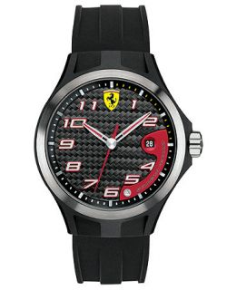 Scuderia Ferrari Watch, Mens Lap Time Black Silicone Strap 44mm 830012   Watches   Jewelry & Watches