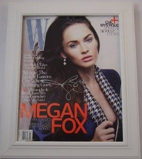 Megan Fox Sexy Signed Autographed Fashion Magazine Custom Framed Loa Entertainment Collectibles