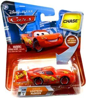 Disney / Pixar CARS Movie 155 Die Cast Car with Lenticular Eyes Series 2 RustEze Lightning McQueen Chase Piece Toys & Games