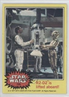 R2 D2 is lifted aboard (Trading Card) 1977 Star Wars #156 Entertainment Collectibles
