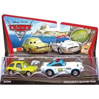 Disney / Pixar CARS 2 Movie 155 Die Cast Car 2Pack Security Guard Finn McMissile Acer Toys & Games